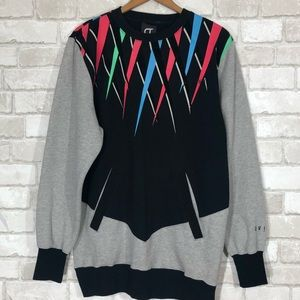 Retro Colorful Embroidered Pullover Sweater